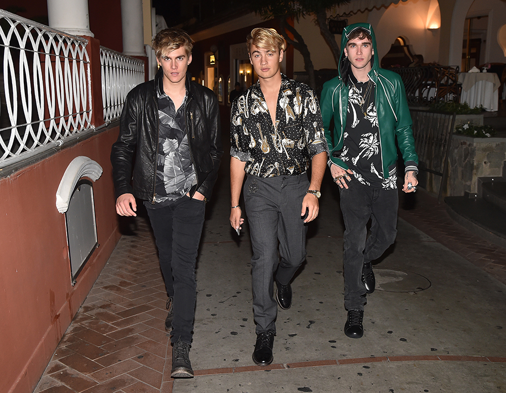 Presley Gerber, Brandon Thomas Lee and Gabriel Kane Day-Lewis in Capri for Dolce & Gabbana